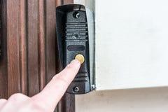 Σύγχρονο κουμπί doorbell Στοκ Εικόνα