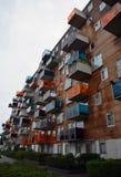 Σύγχρονο κτήριο διαμερισμάτων στο Άμστερνταμ, Ολλανδία Στοκ Εικόνα