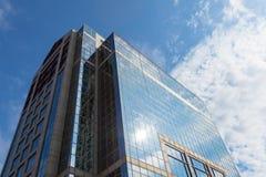 Σύγχρονο κτήριο στην οικονομική περιοχή της Βοστώνης - ΗΠΑ Στοκ φωτογραφία με δικαίωμα ελεύθερης χρήσης
