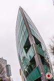 Σύγχρονο κτήριο σχεδίου βαρκών στη Μπρατισλάβα Στοκ φωτογραφία με δικαίωμα ελεύθερης χρήσης
