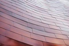 Σύγχρονο κτήριο σύστασης τοίχων χαλκού λεπτομερειών αρχιτεκτονικής Στοκ Εικόνες