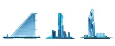 Σύγχρονο κτήριο τρία Στοκ εικόνες με δικαίωμα ελεύθερης χρήσης