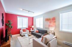 Σύγχρονο κόκκινο καθιστικό Στοκ Εικόνες