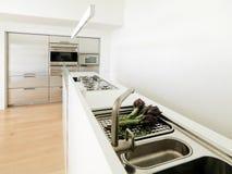 σύγχρονο λευκό κουζινών Στοκ φωτογραφίες με δικαίωμα ελεύθερης χρήσης