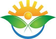 Σύγχρονο λογότυπο γεωργίας ελεύθερη απεικόνιση δικαιώματος