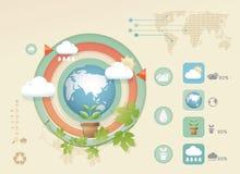 Σύγχρονο μαλακό πρότυπο σχεδίου χρώματος eco Infographic Στοκ εικόνες με δικαίωμα ελεύθερης χρήσης