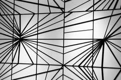 Σύγχρονο μαύρο σχέδιο γραμμών στον άσπρο τοίχο Στοκ Φωτογραφία