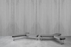 Σύγχρονο μινιμαλιστικό εσωτερικό με το κάθισμα Στοκ Εικόνα