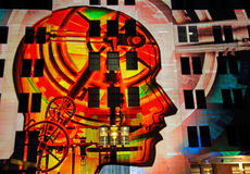 σύγχρονο μουσείο Σύδνεϋ τέχνης ζωηρό στοκ εικόνες