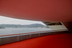 σύγχρονο μουσείο niemeyer Niteroi Oscar s τέ&c Στοκ Φωτογραφίες