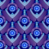 Σύγχρονο μπλε κατασκευασμένο τρισδιάστατο ελληνικό άνευ ραφής σχέδιο ελεύθερη απεικόνιση δικαιώματος