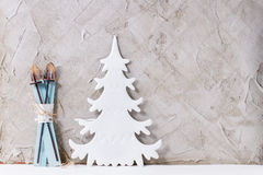 Σύγχρονο ντεκόρ Χριστουγέννων στοκ φωτογραφία με δικαίωμα ελεύθερης χρήσης