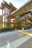 Σύγχρονο ξύλινο architechture στην ακτή Καλιφόρνιας στο Σαν Ντιέγκο Στοκ φωτογραφία με δικαίωμα ελεύθερης χρήσης