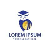 Σύγχρονο λογότυπο κουκουβαγιών Στοκ Εικόνα