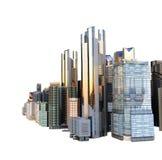Σύγχρονο πανόραμα πολυκατοικιών εικονικής παράστασης πόλης πανοράματος του CE Στοκ Φωτογραφία