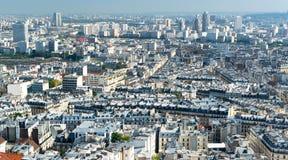 Σύγχρονο Παρίσι. Άποψη από το Sacre Coeur Στοκ εικόνες με δικαίωμα ελεύθερης χρήσης