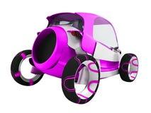 Σύγχρονο πορφυρό ηλεκτρικό αυτοκίνητο για τα ταξίδια στον αερολιμένα για τη μεταφορά απεικόνιση αποθεμάτων