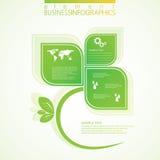 Σύγχρονο πράσινο infographic σχέδιο διάνυσμα απεικόνιση αποθεμάτων