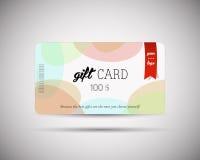 Σύγχρονο πρότυπο καρτών δώρων Στοκ φωτογραφία με δικαίωμα ελεύθερης χρήσης