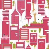 σύγχρονο πρότυπο πόλεων απεικόνιση αποθεμάτων
