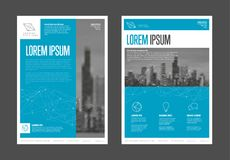 Σύγχρονο πρότυπο σχεδίου ιπτάμενων επιχειρησιακών εταιρικό φυλλάδιων Στοκ εικόνα με δικαίωμα ελεύθερης χρήσης