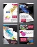 Σύγχρονο πρότυπο σχεδίου σχεδιαγράμματος φυλλάδιων πολυγώνων Φυλλάδιο ιπτάμενων cov Στοκ Φωτογραφία