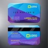 Σύγχρονο πρότυπο σχεδίου επαγγελματικών καρτών Στοκ Φωτογραφίες