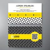 Σύγχρονο πρότυπο σχεδίου επαγγελματικών καρτών Στοκ Εικόνες