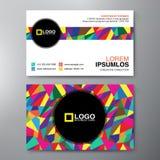 Σύγχρονο πρότυπο σχεδίου επαγγελματικών καρτών Στοκ Φωτογραφία