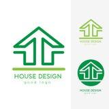 Σύγχρονο πρότυπο σχεδίου λογότυπων σπιτιών οριζόντια απλό Στοκ φωτογραφία με δικαίωμα ελεύθερης χρήσης