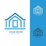 Σύγχρονο πρότυπο σχεδίου λογότυπων σπιτιών οριζόντια απλό Στοκ εικόνες με δικαίωμα ελεύθερης χρήσης