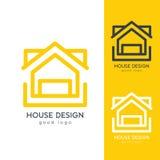 Σύγχρονο πρότυπο σχεδίου λογότυπων σπιτιών οριζόντια απλό Στοκ φωτογραφίες με δικαίωμα ελεύθερης χρήσης