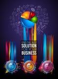 Σύγχρονο πρότυπο φυλλάδιων Infographic για την ταξινόμηση προϊόντων, την επιχειρησιακή παρουσίαση flyesr και την ταξινόμηση λύσεω ελεύθερη απεικόνιση δικαιώματος