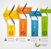 Σύγχρονο πρότυπο infographics βελών ελεύθερη απεικόνιση δικαιώματος