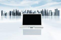 σύγχρονο πρότυπο lap-top 01 επιχειρήσεων Στοκ Εικόνα