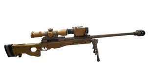 Σύγχρονο πυροβόλο όπλο ελεύθερων σκοπευτών Στοκ φωτογραφία με δικαίωμα ελεύθερης χρήσης