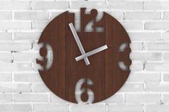 Σύγχρονο ρολόι ρολογιών κύκλων τοίχων ξύλινο τρισδιάστατη απόδοση απεικόνιση αποθεμάτων