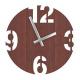 Σύγχρονο ρολόι ρολογιών κύκλων τοίχων ξύλινο τρισδιάστατη απόδοση διανυσματική απεικόνιση
