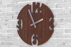 Σύγχρονο ρολόι ρολογιών κύκλων τοίχων ξύλινο r ελεύθερη απεικόνιση δικαιώματος