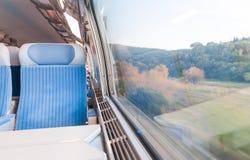 Σύγχρονο σαφές τραίνο. Στοκ Φωτογραφία