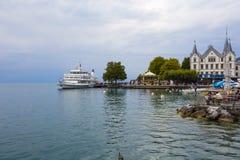 Σύγχρονο σκάφος που ονομάζεται τη Λωζάνη σε Vevey Στοκ εικόνες με δικαίωμα ελεύθερης χρήσης