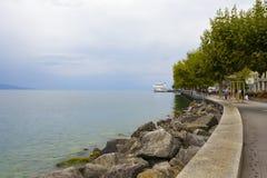 Σύγχρονο σκάφος που ονομάζεται τη Λωζάνη, Vevey Στοκ φωτογραφίες με δικαίωμα ελεύθερης χρήσης