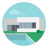 Σύγχρονο σπίτι στο επίπεδο σχέδιο Στοκ εικόνες με δικαίωμα ελεύθερης χρήσης