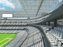 Σύγχρονο στάδιο αμερικανικού ποδοσφαίρου με τα άσπρα καθίσματα Στοκ φωτογραφίες με δικαίωμα ελεύθερης χρήσης