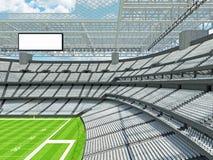 Σύγχρονο στάδιο αμερικανικού ποδοσφαίρου με τα άσπρα καθίσματα στοκ εικόνες
