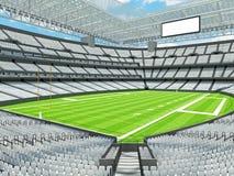 Σύγχρονο στάδιο αμερικανικού ποδοσφαίρου με τα άσπρα καθίσματα Στοκ φωτογραφία με δικαίωμα ελεύθερης χρήσης