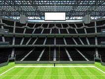 Σύγχρονο στάδιο αμερικανικού ποδοσφαίρου με τα μαύρα καθίσματα Στοκ φωτογραφίες με δικαίωμα ελεύθερης χρήσης