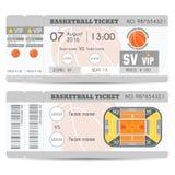 Σύγχρονο σχέδιο εισιτηρίων καλαθοσφαίρισης Στοκ Εικόνες