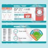 Σύγχρονο σχέδιο εισιτηρίων μπέιζ-μπώλ Στοκ φωτογραφίες με δικαίωμα ελεύθερης χρήσης