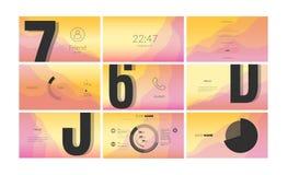 Σύγχρονο σχέδιο οθόνης UI για κινητό app με τα στοιχεία Ιστού απεικόνιση αποθεμάτων